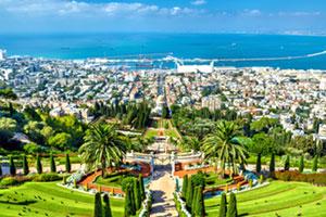 地中海を臨むイスラエルのハイファ